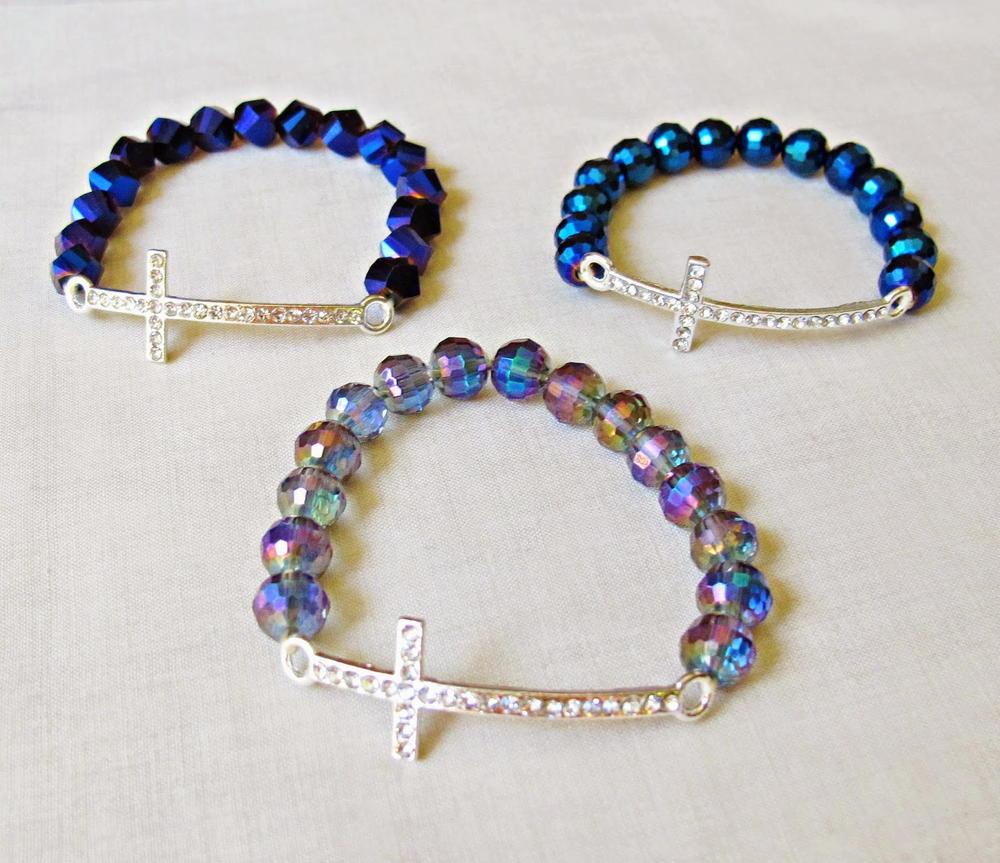 Diy Rhinestone Cross Bracelet Allfreejewelrymaking Com