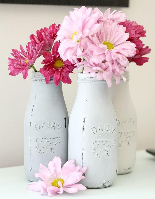 Milk Bottle Diy Vases Favecrafts Com