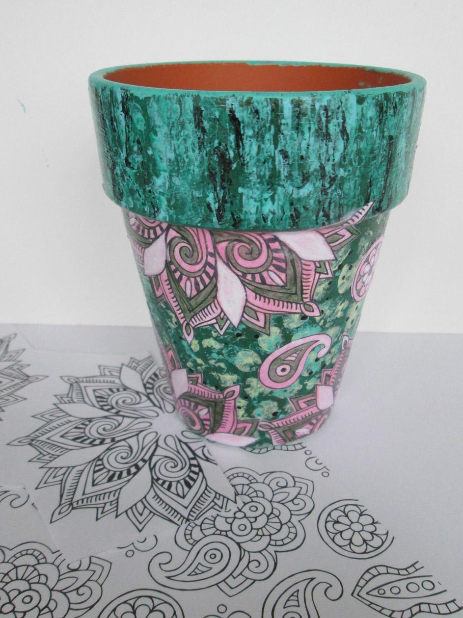 Decoupaged Flower Pot Crafts | FaveCrafts.com