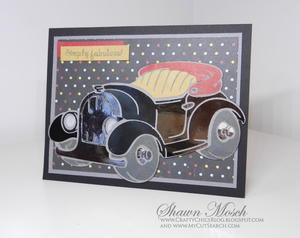 Vintage Car Deco Foil Card