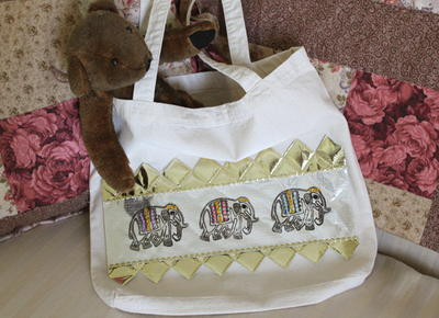 Stamped Canvas Bag