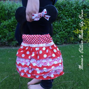Minnie Pattern Mash-Up Purse