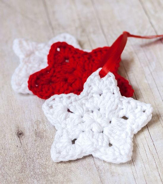 Crocheted Star Homemade Christmas Ornaments & Crocheted Star Homemade Christmas Ornaments | AllFreeChristmasCrafts.com