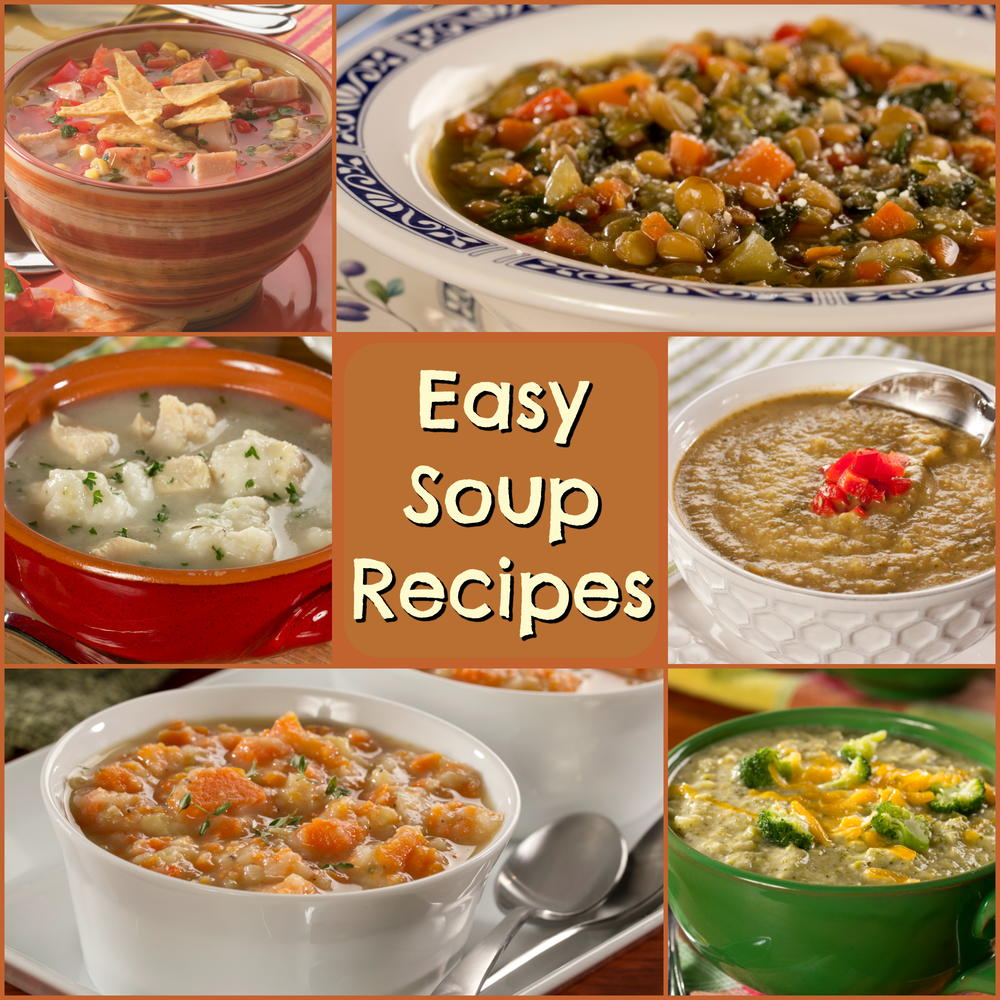12 easy soup recipes for healthier diets