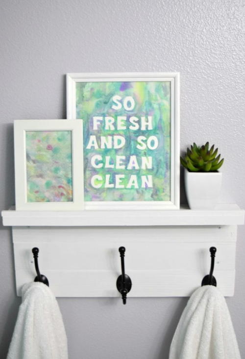 Diy Spa Bathroom Decor : Watercolor diy bath decor allfreekidscrafts