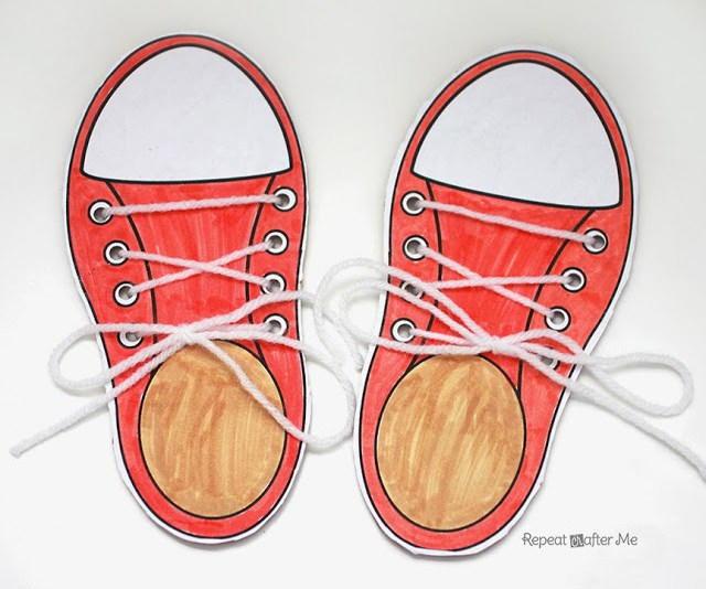 Shoe Tying Practice Printable Allfreekidscrafts Com