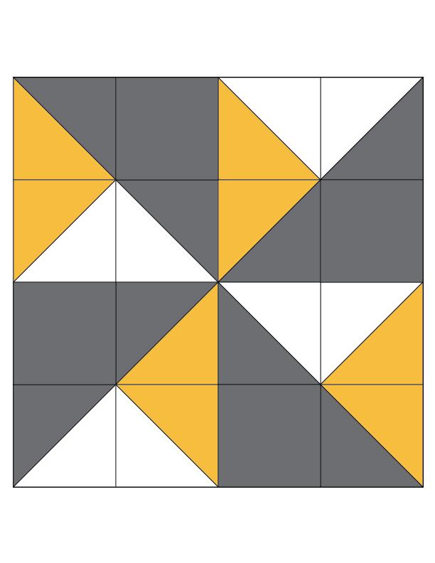 Double Pinwheel Quilt Block Favequilts Com