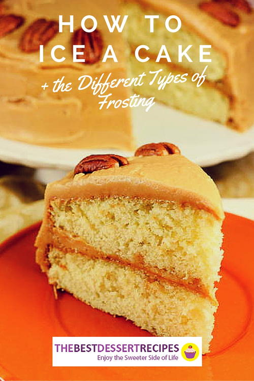 How to ice a cake and the 8 different types of frosting for Different types of cakes recipes with pictures