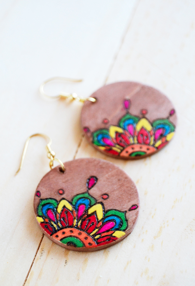 Coloring Book Diy Wood Earrings Allfreejewelrymaking Com