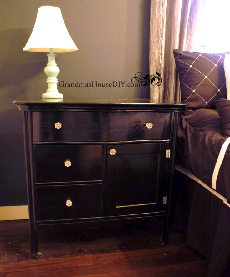 Repurposed Wash Stand Diy Bedside Table Diyideacenter Com