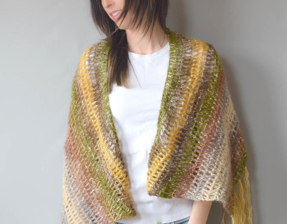 Boho Crochet Shawl Pattern Favecrafts Com