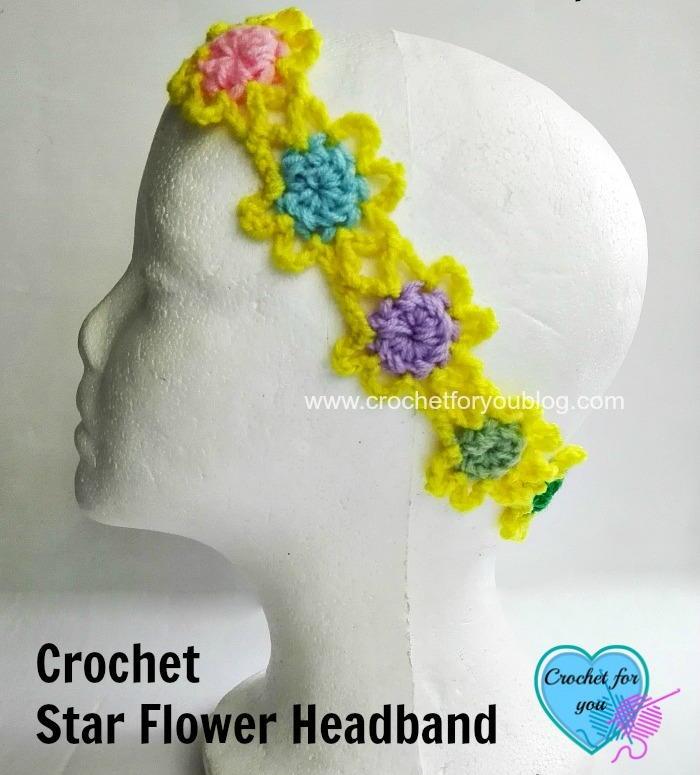 Large Crochet Flower Pattern For Headband : Flower Power Crochet Headband Pattern FaveCrafts.com