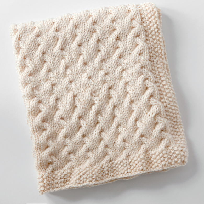 Snuggly Cables Baby Blanket Allfreeknitting Com