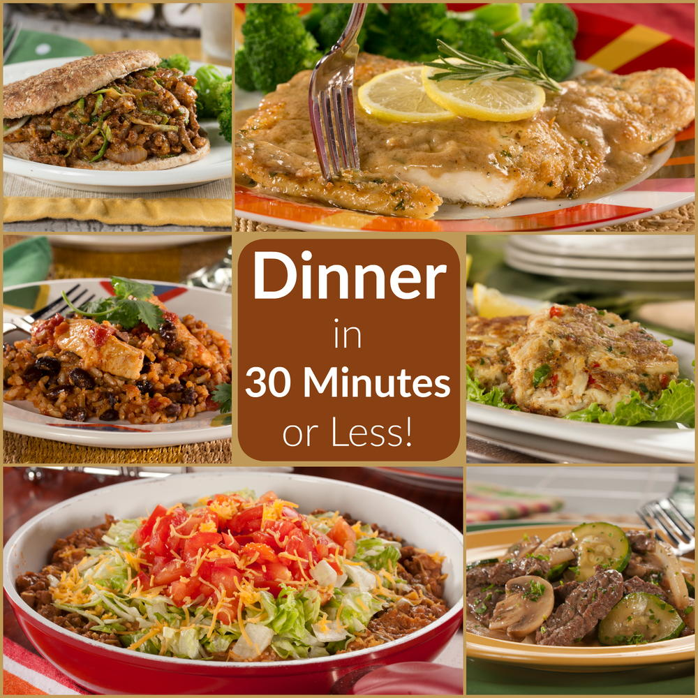Easy Dinner Time Recipes: Quick And Easy Dinners In 30 Minutes Or Less