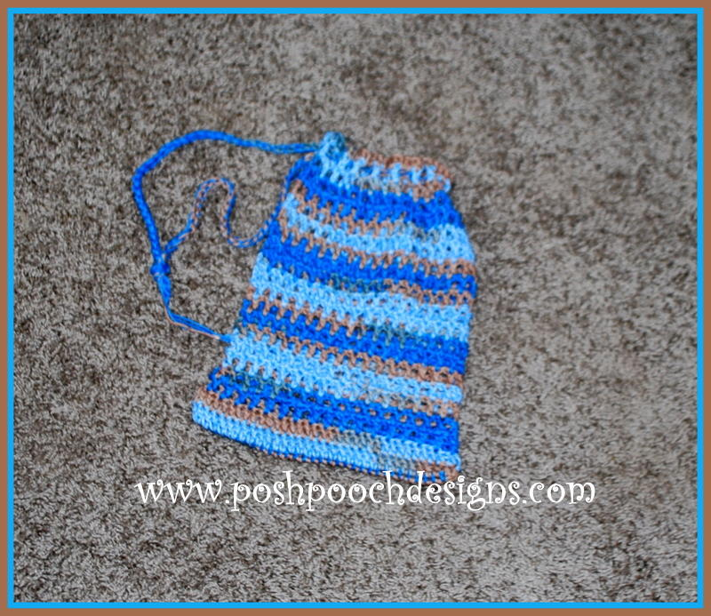 Easy Crochet Mesh Bag Pattern : Mesh Drawstring Bag AllFreeCrochet.com