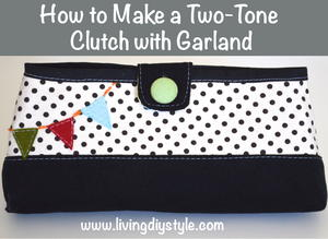 Two-Tone Clutch Sewing Pattern