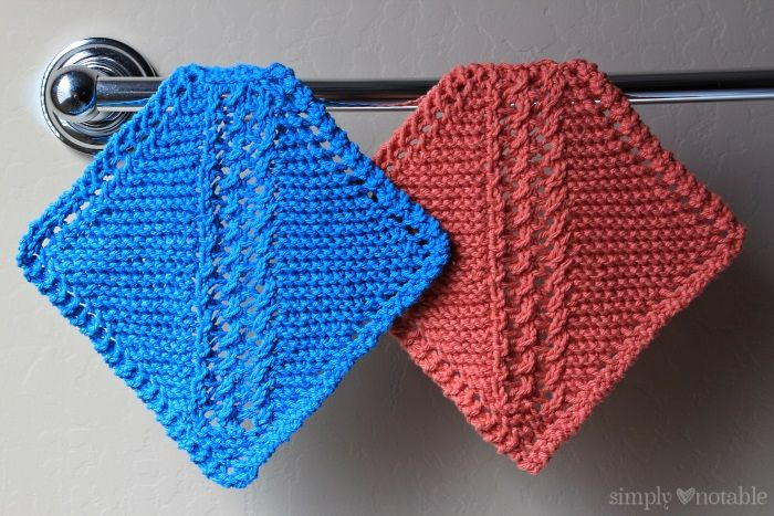 Grandmother S Diagonal Lace Washcloth Allfreeknitting Com