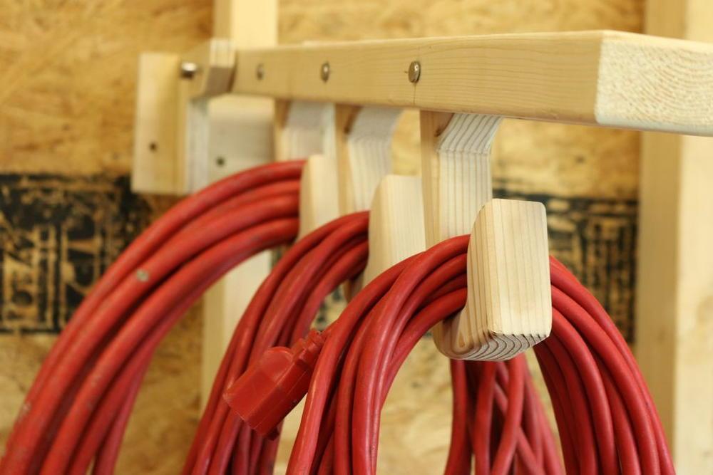 Folding Diy Organizer For Extension Cords Diyideacenter Com