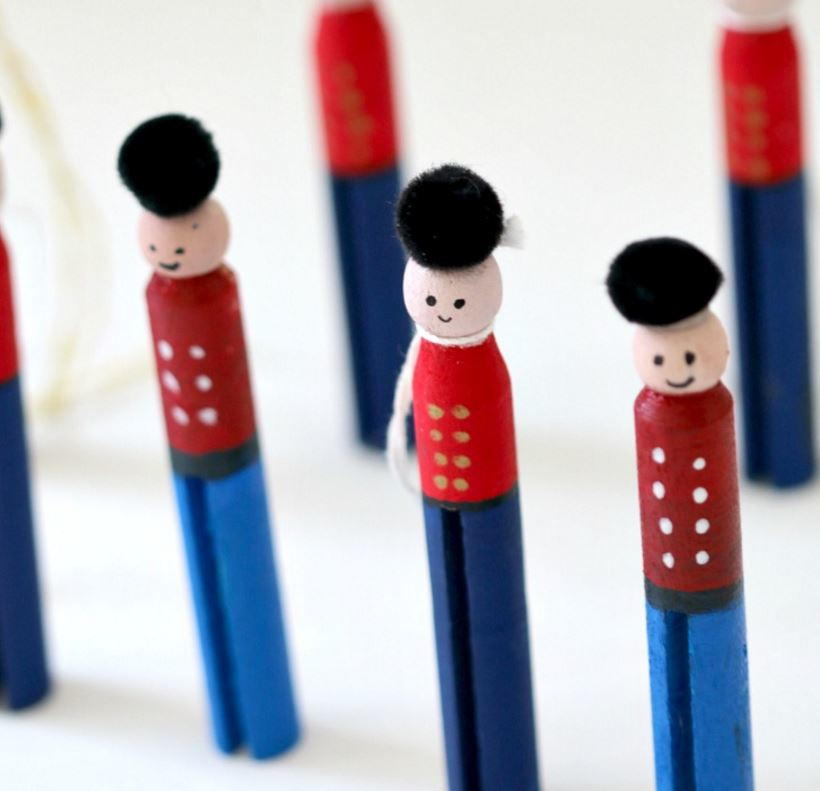 little drummer boy clothespin crafts