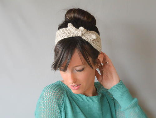 Vintage Tie Up Headband Knitting Pattern