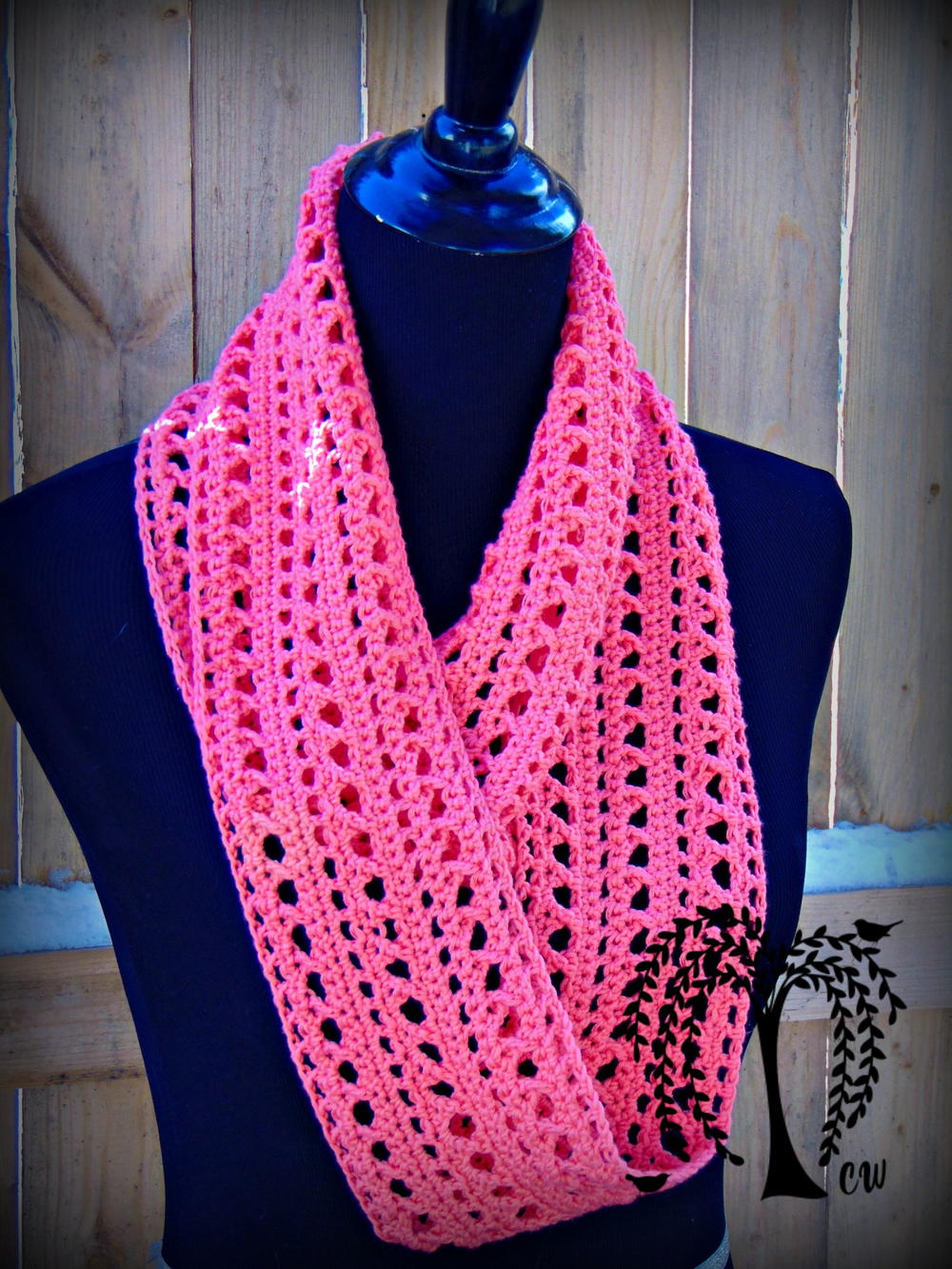 kisses infinity scarf allfreecrochet