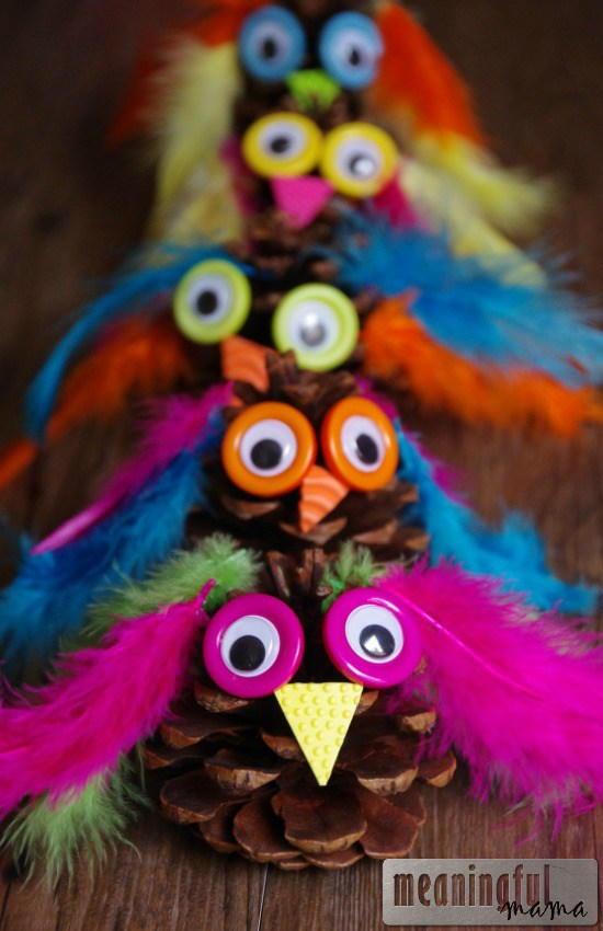 Adorable Owl Pinecone Craft Allfreekidscrafts Com