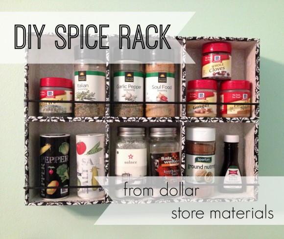 Dollar Store Spice Rack