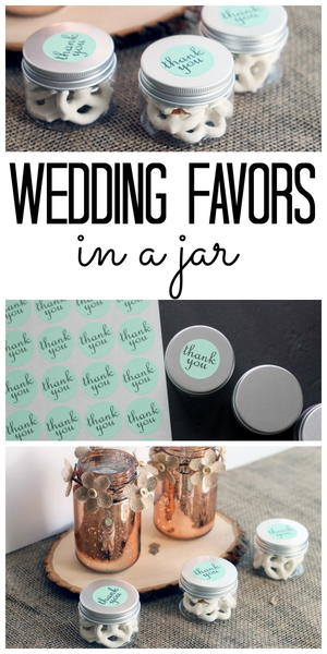 """Thank You"" Wedding Favors in Jars"