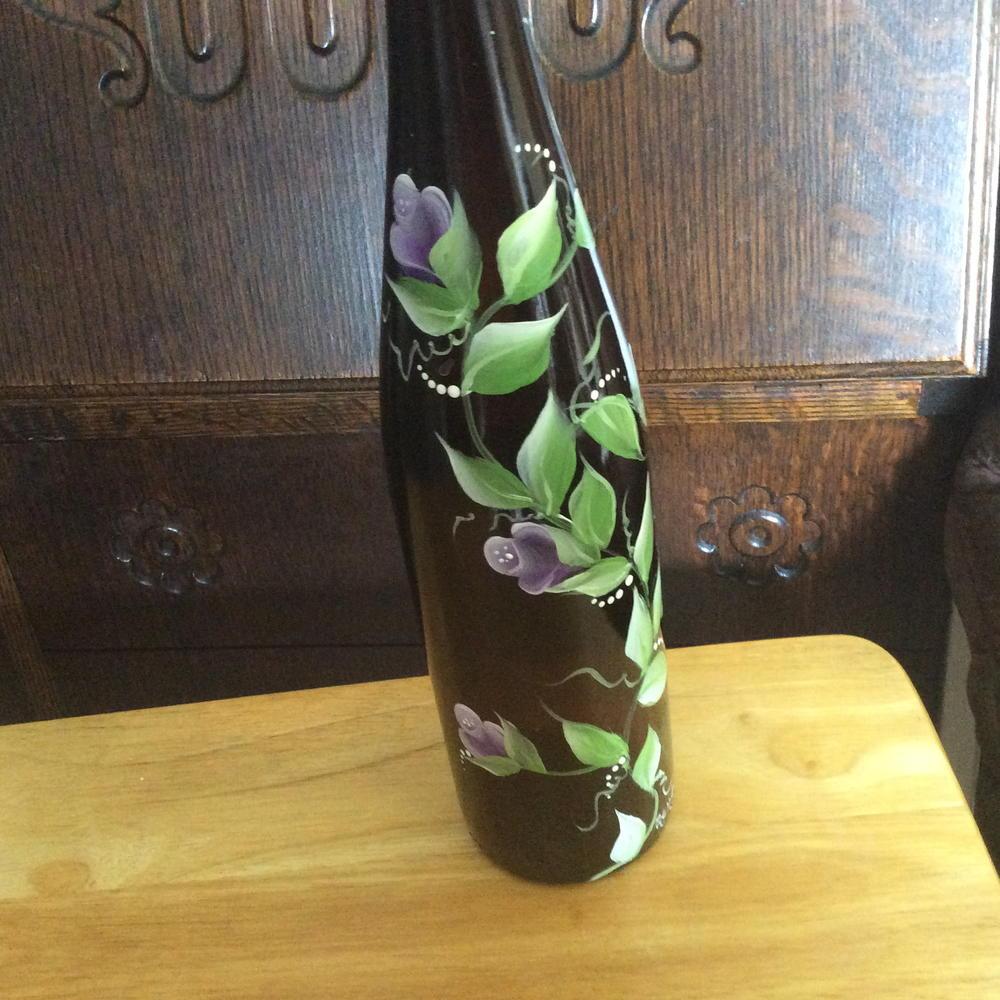 Way easy light up wine bottle craft for Easy wine bottle crafts