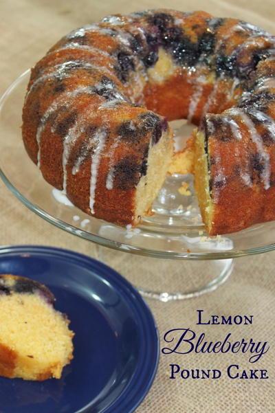 Lemon Blueberry Pound Cake   RecipeLion.com