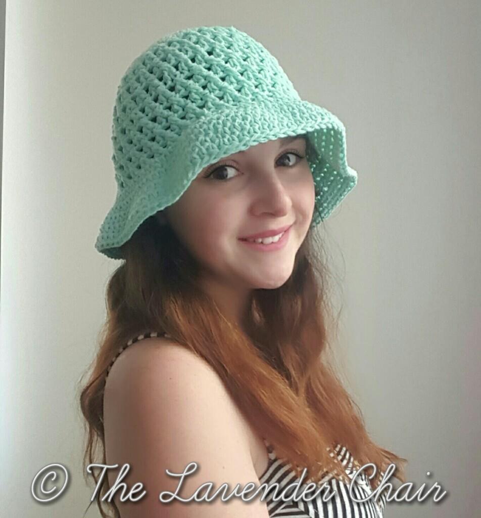 Easy Summer Crochet Hat Patterns : Crossed Double Crochet Sun Hat AllFreeCrochet.com