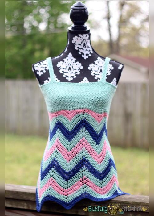 Women S Crochet Chevron Tank Top Allfreecrochet Com