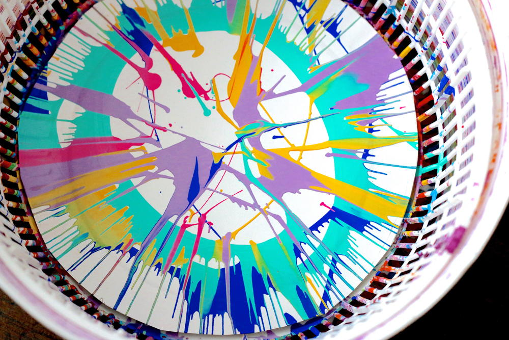 Salad Spinner Painting Project Allfreekidscrafts Com