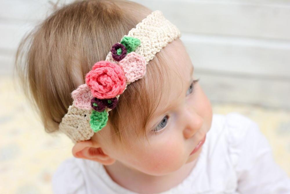 Large Crochet Flower Pattern For Headband : Boho Summer Crochet Headband FaveCrafts.com