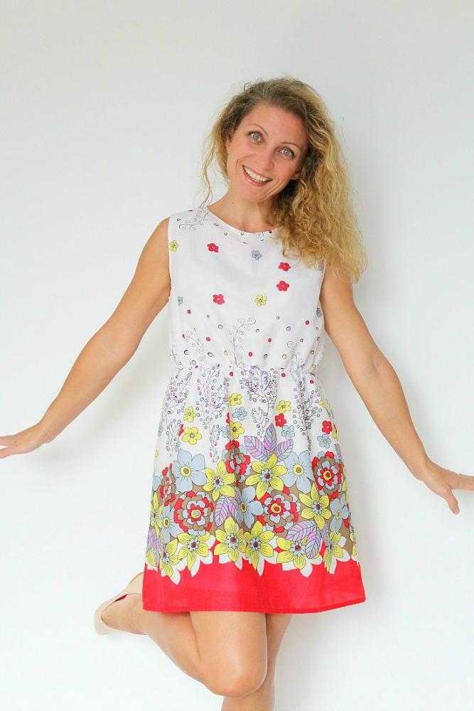 Gathered Waist Summer Dress Pattern