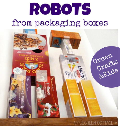 how to make a recycled robot for kids