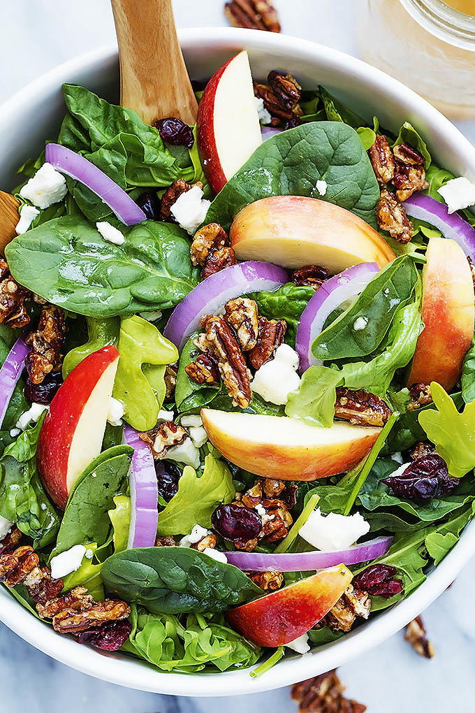 Apple Pecan Salad With Maple Vinaigrette Recipelion Com