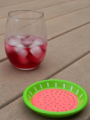 Juicy Watermelon Outdoor Coaster