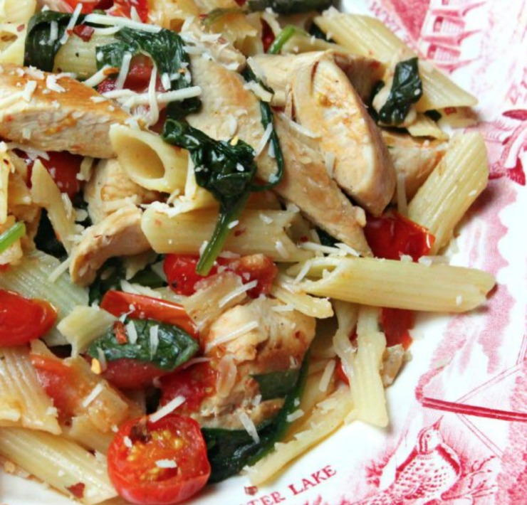 Chicken Florentine Pasta Recipe | RecipeLion.com