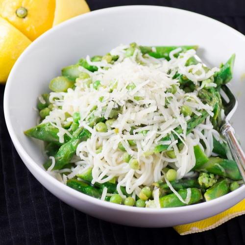 Hot Asparagus, Snap Pea & Avocado Pasta Salad | RecipeLion.com