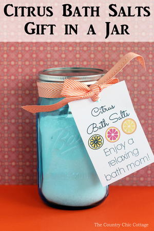 Citrus Bath Salts Gift in a Jar