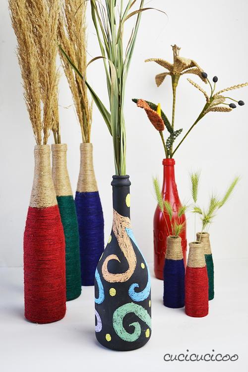 Customizable wine bottle crafts - Craft ideas with wine bottles ...