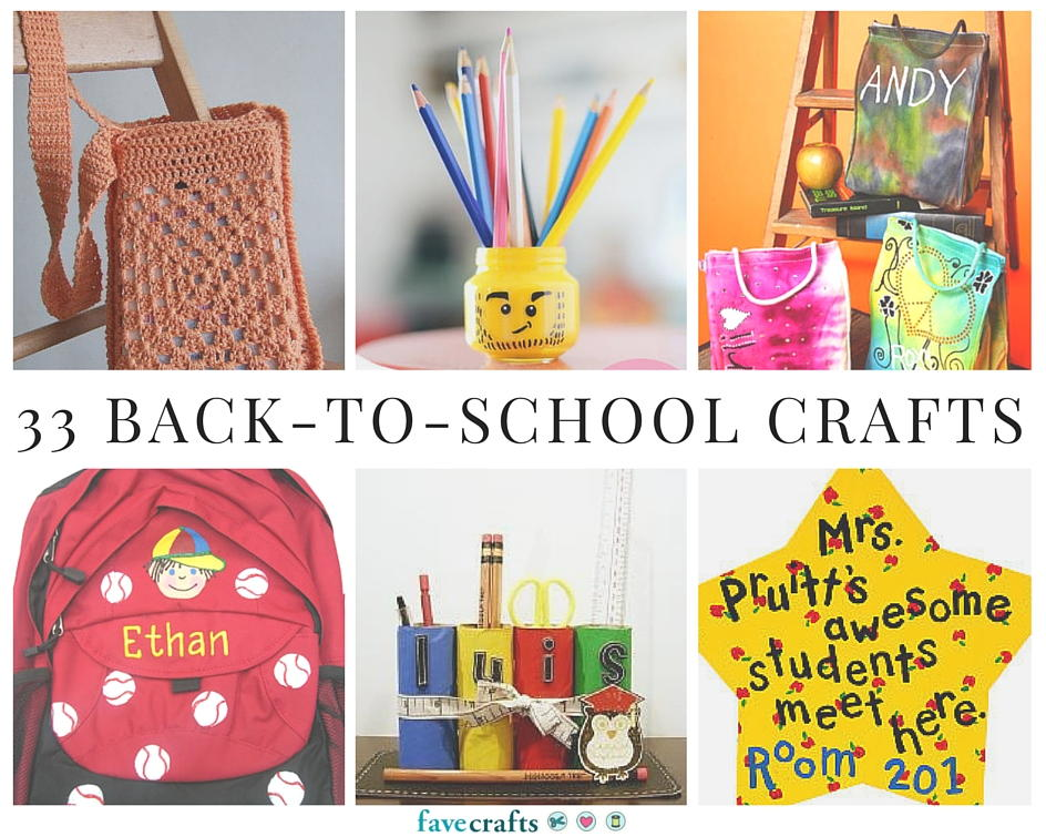 33 Back to School Crafts FaveCraftscom