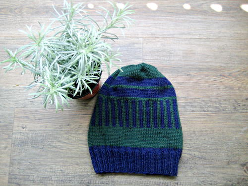 Easy Striped Knitted Hat_1