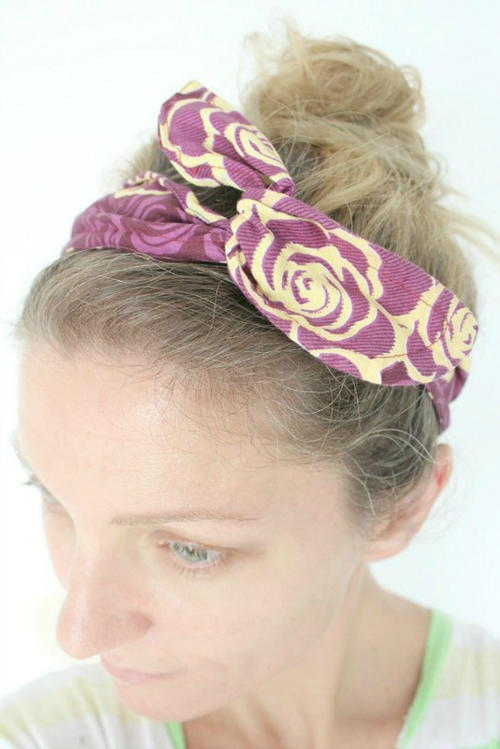 Wire and Fabric DIY Headband