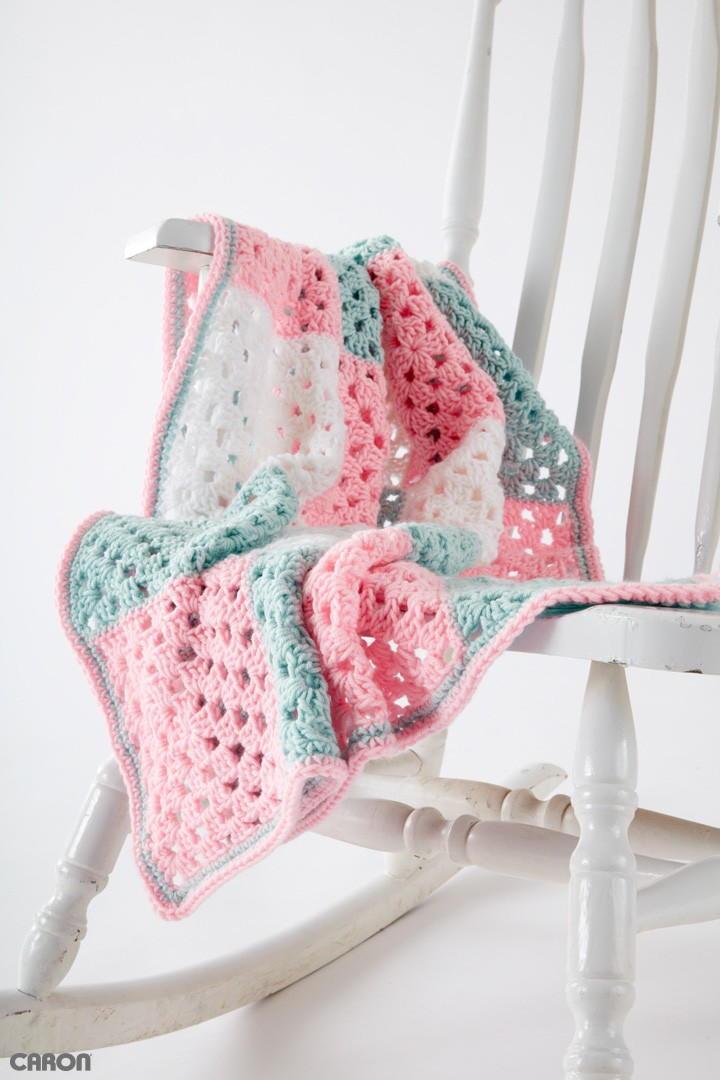 Springtime Squares Crochet Afghan
