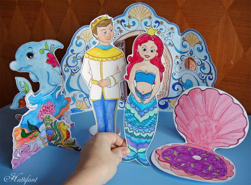 Magic Mermaid Paper Dolls