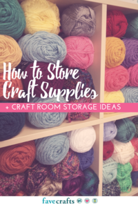 How to Store Craft Supplies + Craft Room Storage Ideas