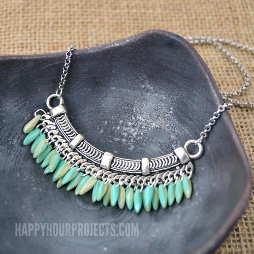 Quetzalcoatl Fringe Bib Necklace