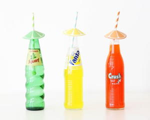 Citrus Straw Umbrellas